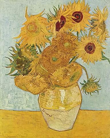 'Los girasoles' de Van Gogh