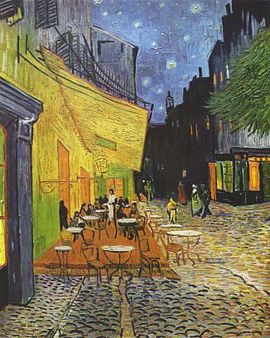 'Terraza de café por la noche' de Van Gogh