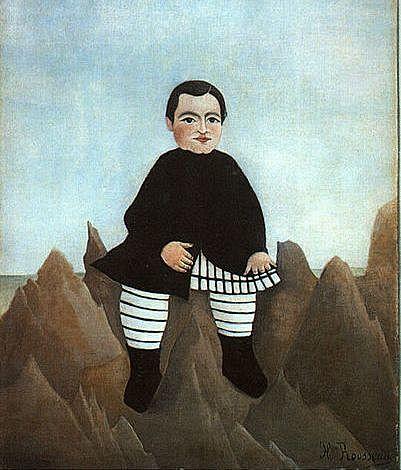 'Niño sobre las rocas' de Rosseau