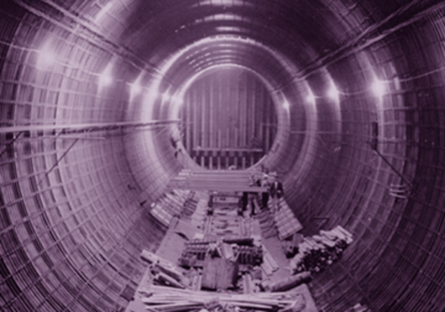 Last of the tunnel tubes is lowered into place