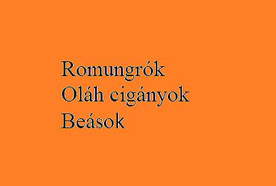 A magyarországi cigányok/romák csoportjai