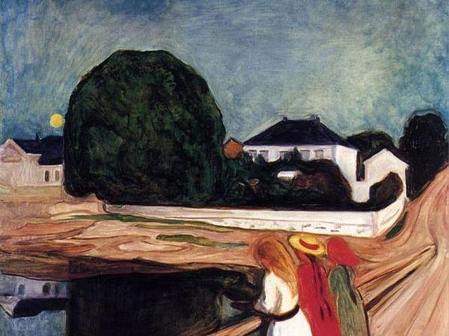 'Muchachas en el puente' de Munch