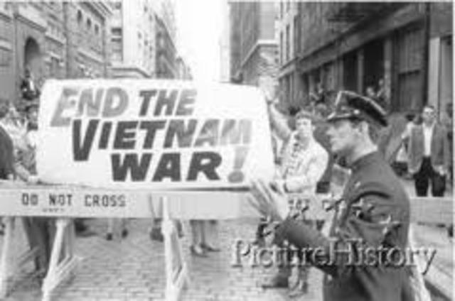 End of vietnam war.