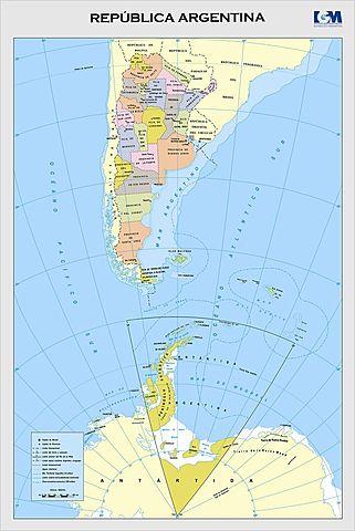 Islas Malvinas en mapas oficiales de Argentina
