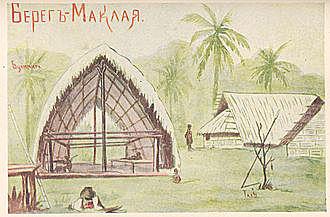 К новому, 1872 году авторитет Миклухо-Маклая среди местного населения вырос, и 11 января он впервые получил приглашение в деревню Бонгу.
