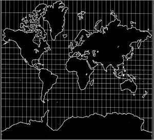 Mercator Idea un sistema de representació cartogràfica de la  Terra.