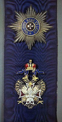 8 сентября 1859 года пожалован орденом Белого орла.
