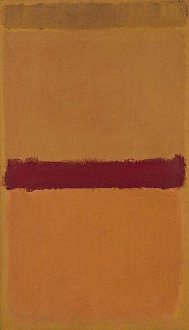 """""""Sin título"""" (naranja ciruela y amarillo) de Rothko"""