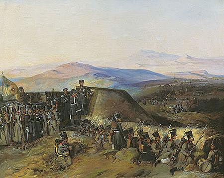 Командуя Гвардейским экипажем, Фаддей Фаддеевич участвовал в Русско-турецкой войне 1828—1829 годов[10] и за отличие при взятии Месемврии и Инады был награждён орденом Святой Анны I степени.