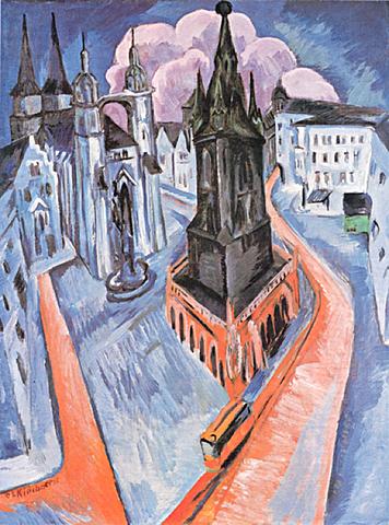 'La torre roja de Halle' de Kirchner
