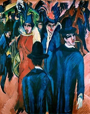 'Escena de calle de Berlín' de Kirchner