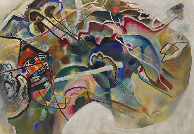 'Pintura con borde blanco' de Kandinsky