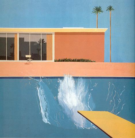 """""""A Bigger splash"""" de Hockney"""