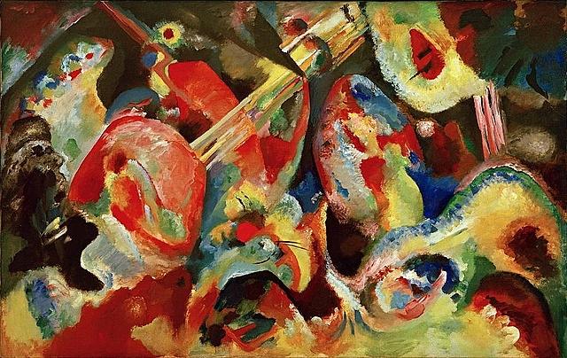 'Improvisación diluvio' de Kandinsky