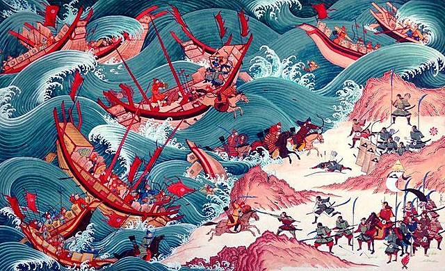 The attack of the Mongol tribe