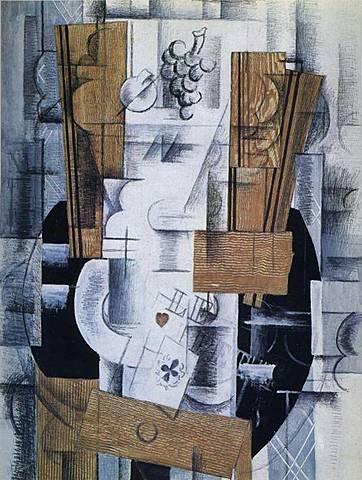 'Bodegón con cartas' de Braque
