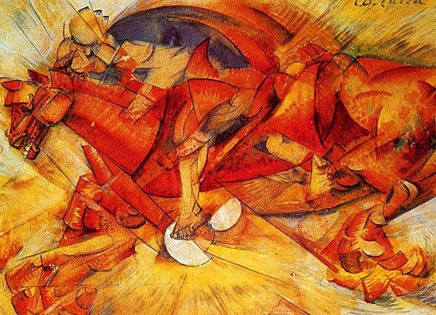 'El jinete rojo' de Carrà