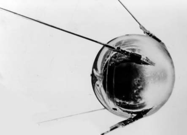 """The satalite """"sputnik 1"""" is the first object sent into space and to sucessfully orbit the earth"""