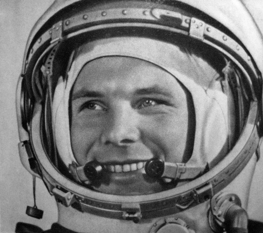 Soviet cosmonaut Yuri Gagarin becomes the first person in space.  (he orbits the Earth)