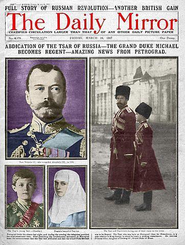 Czar Nicholas II gets abdicated