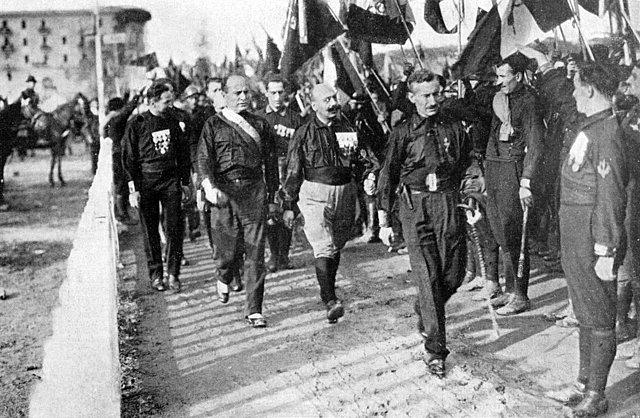La marxa sobre Roma, 1922, Itàlia