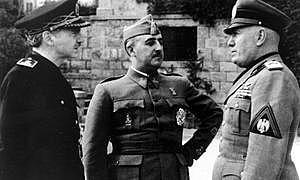 Entrevista de Franco y Mussolini en Bordighera