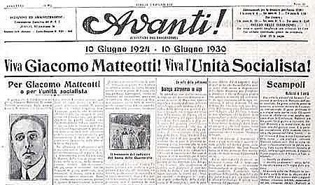 Assassinat de Matteotti, 1924, Roma (Itàlia)