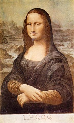 'La Gioconda con bigote' de Duchamp