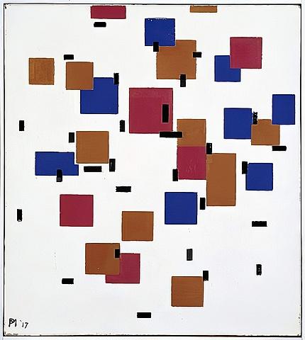 'Composición en color' de Mondrian