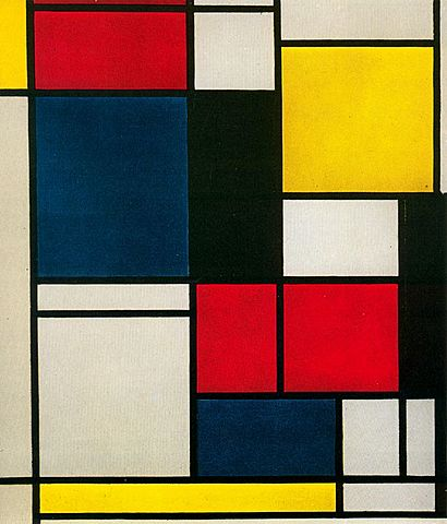 'Composicion II' de Mondrian