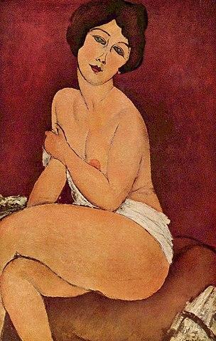 'Desnudo sentado en un diván' de Modigliani