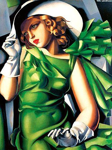 'Muchacha con guantes' de Tamara de Lempicka