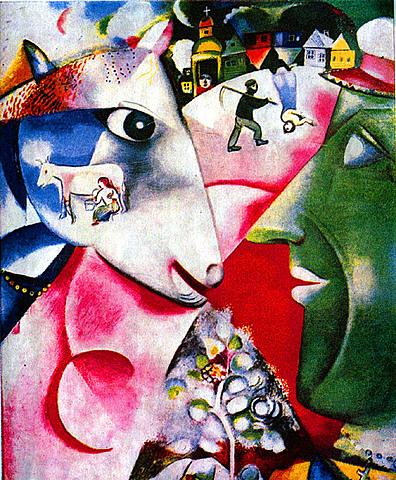 'Yo y mi aldea' de Chagall