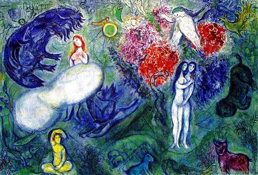 'Adán y Eva' de Chagall