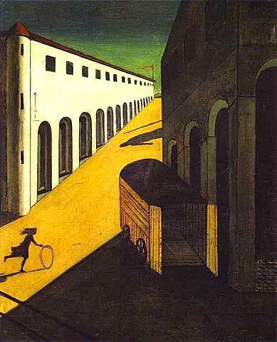 'Misterio y melancolía de una calle' de Giorgio de Chirico