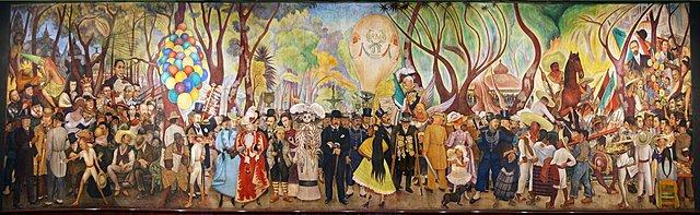 'Sueño de un domingo por la tarde en la Alameda' de Diego Rivera
