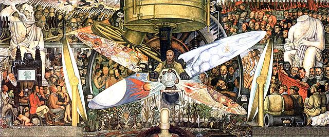 'El hombre en la encrucijada' de Diego Rivera