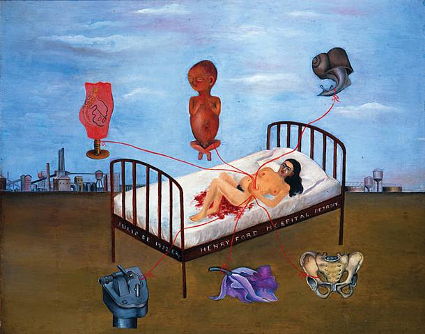 'Hospital Henry Ford' de Frida Kahlo