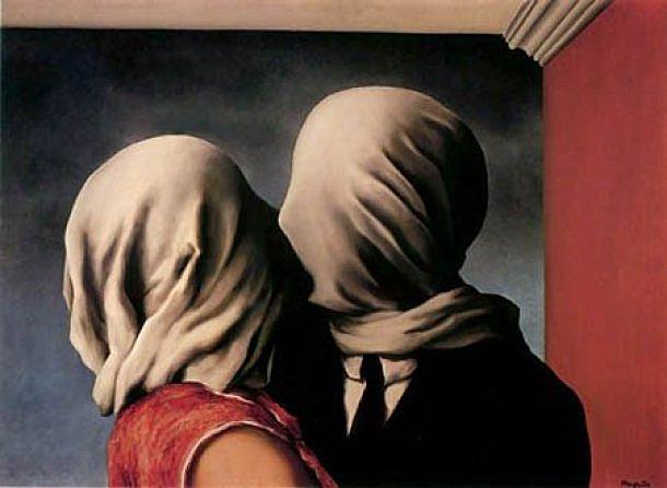 'Los amantes' de Magritte