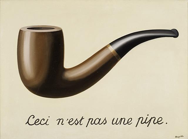 'Esto no es una pipa' de Magritte