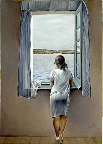 'Muchacha en la ventana' de Dalí