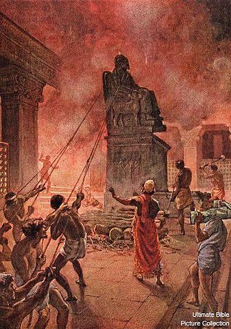 Josiah purges Judah and Jerusalem