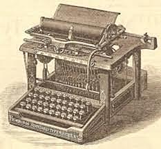Primera unidad de máquina de escribir