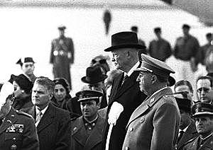 Plan de estabilización. Visita oficial de Eisenhower a España