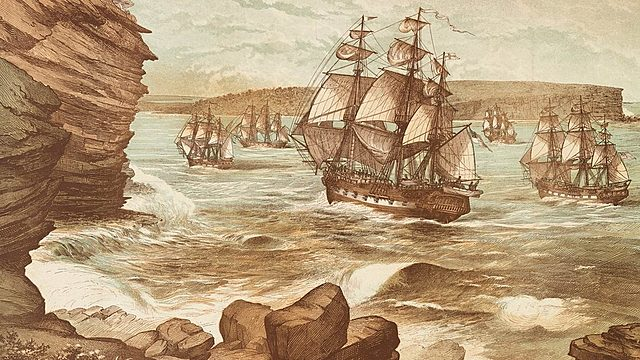 First fleet arrive in Australia