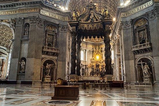 Realizzazione del Baldacchino della basilica di San Pietro