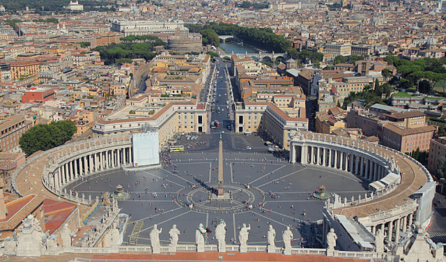 Realizzazione del colonnato di San Pietro