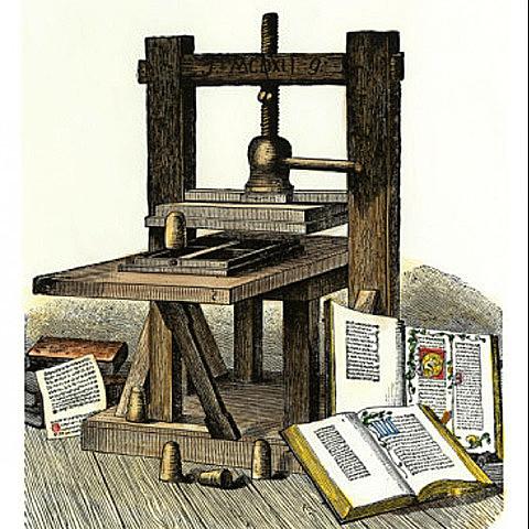 Gutenberg inventa la imprenta.
