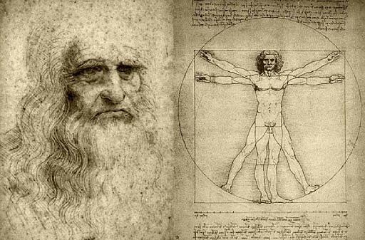 La creació de l'Home de Vitruvi de Leonardo da Vinci