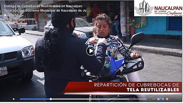 Entrega de Cubrebocas Reutilizables en Naucalpan